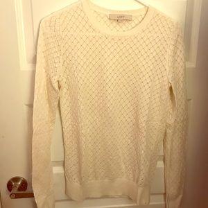 EUC LOFT White Spring Sweater